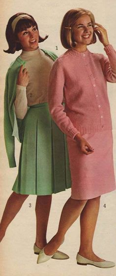 60′s Fashion   I think that pink outfit was one I wore to high school