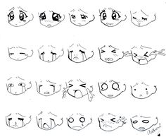 Manga Chibi faces 2