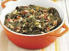 Crispy bacon, sauteed onion, ham, and garlic perfect these Southern-Style Collard Greens, making them an essential part of your traditional Southern feast.