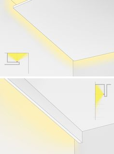 Ideas for Home Lighting Design Ceiling Light Design, False Ceiling Design, Ceiling Lights, Cove Lighting Ceiling, Ceiling Ideas, Hidden Lighting, Strip Lighting, Lighting Concepts, Lighting Design