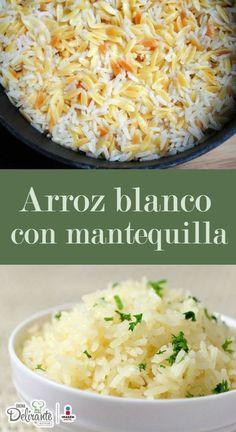 arroz blanco con mantequilla | CocinaDelirante