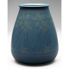 """Marblehead Pottery (1904-1936) - Floral Vase. Painted and Matte-Glazed Pottery. Marblehead, Massachusetts. Circa 1900. 6"""" x 5""""."""