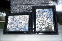 Broken mirror mosaic wall decor by LMODesignGroup on Etsy, $50.00