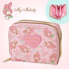 My Melody Bifold Double Wallet Dual Compartment Rose Pink SANRIO JAPAN