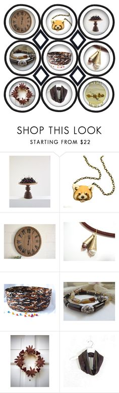 """""""All Around Brown"""" by fibernique ❤ liked on Polyvore"""