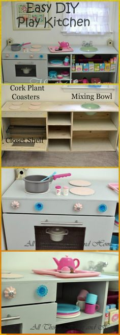 50 Unique DIY Play Kitchen Projects For Your Kids - Page 6 of 10 - I Heart Crafty
