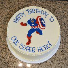 Captain America Super Hero Birthday Cake SUgarland Raleigh Cameron Village
