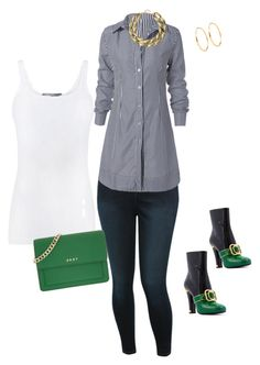 Simple Chic - Sassy by ka-cey on Polyvore featuring polyvore, fashion, style, Vince, M&Co, DKNY, Kenneth Jay Lane and clothing