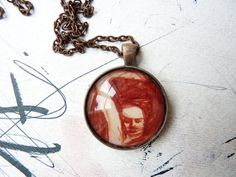 WEARABLES necklace art illustration pendant woman by anapina, €17.00