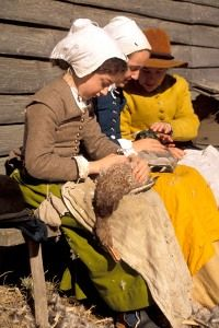 Plimoth Plantation Homeschool Day: landscapes as a primary source, May 8, 2015.   Learned about how house were built; split a log w/beedle and wedges; daubed a wall; talked at length w/interpreters.