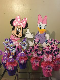 Minnie and daisy bowtique foam characters and centerpieces