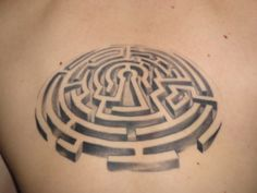 This is maze, not a labyrinth but the 3D with grey-scale appeals to me