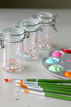 Create DIY Spice Jars, How to Update your Kitchen with Cute! Easy and little creative project perfect for glasses, jars, vases and more! Under 10 minute project