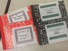 These are notebooks we cut in half for all sorts of things. The kids love them!!