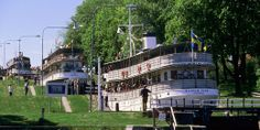 Sail up to Lane Vanern on a Kanal Steamer Canal Holidays, Travel Around The World, Around The Worlds, Fleet Of Ships, About Sweden, Steamer, Stockholm, Beautiful Images, Denmark
