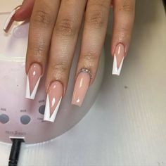 French Acrylic Nails, Acrylic Nails Coffin Short, Simple Acrylic Nails, Best Acrylic Nails, Acylic Nails, Cute Acrylic Nail Designs, Striped Nails, Fire Nails, Birthday Nails