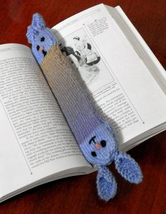 Free Knitting Pattern for Bunny Bookmark