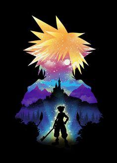 Kingdom Hearts Wallpaper, Kingdom Hearts Fanart, Fajardo, Gaming Posters, Space Posters, Day Of The Shirt, Mickey Mouse, Kindom Hearts, Spray Paint Art