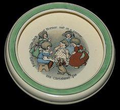 Roseville Juvenile Early Creamware Little Jack Horner Baby Plate / Bowl Vintage Pottery, Pottery Art, Baby Staff, Baby Plates, Baby Dishes, Roseville Pottery, Baby Feeding, Vintage Children, Dinnerware
