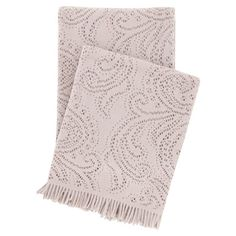 Showcasing fringed ends and a paisley design, this stylish throw is perfect draped across your living room sofa or master bedroom bench.