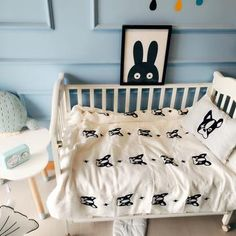 Frenchie Twin or Crib Bedding Set Crib set includes: Duvet Cover: 110 x Flat Sheet: Pillow Case: Twin set includes: Duvet Cover: 160 x Flat Sheet: 180 x Pillow Case: 48 x include: 1 x Duvet Cover + 1 x flat Bedsheet + 1 x Pillowcase Baby Crib Bedding Sets, Crib Sets, Linen Bedding, Flat Sheets, Bed Sheets, Dog Design, Home Textile, Duvet Cover Sets, Cribs