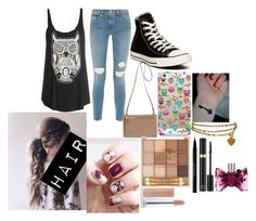 """""""A Day Out"""" by chloe-775 ❤ liked on Polyvore featuring Frame Denim, Converse, Casetify, Karl Lagerfeld, Urban Decay and Viktor & Rolf"""