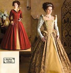 Simplicity 3782 Womans 6 to 12 Reenactment Elizabethan Gown Historical Pattern