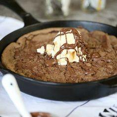 Chocolate Hazelnut Skillet Cookie