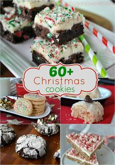 60+ Christmas Cookies all listed in one place! You're sure to find the perfect holiday recipe!