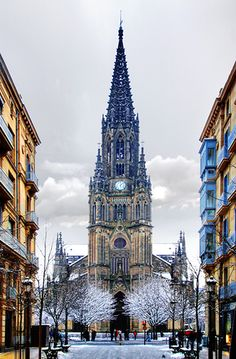 Cathedral of Donostia/San Sebastian, Basque Country - Spain Places Around The World, The Places Youll Go, Places To Visit, Around The Worlds, Vacation Destinations, Vacation Spots, Temples, San Sebastian Spain, Europe Holidays