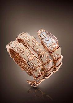 Gioielli Bulgari, Serpenti orologio bianco #TuscanyAgriturismoGiratola
