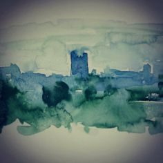 Richmond Castle, North Yorkshire, UK. Watercolour by Sarah Hogg