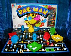 Pac-Man Board Game- I had this!!!!! I remember peeking at my parents while they wrapped this for me for my 8th(?) birthday :-) I had Pac-Man fever fer sher.