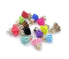 Mini Tassels - 12 Decorative Tassels, Random Color Mix - Tiny Tassels - Cute Tiny Tassels - Tassel Charms for Jewelry Making - TB-5G01 #etsy #tasselsforjewelry