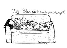 Save on your heating bill this winter and invest in a pug blanket!