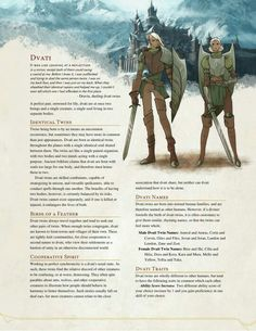 DnD Homebrew — Dvati Race by The Middlefinger of Vecna Dungeons And Dragons Races, Dungeons And Dragons Classes, Dungeons And Dragons Characters, Dungeons And Dragons Homebrew, Dnd Characters, Fantasy Characters, Dnd Dragons, Fox Racing, Vespa Racing