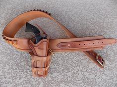 authentic western holster and belt.