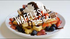 Como Hacer Waffles Belgas - Masa Básica de Waffles - Masa básica de waffles estilo belgas para comer dulces o salados. Crocantes por fuera, tiernos y aireados por dentro! Ideal para acompañarcon frutas,helado, chocolate, miel opara comer salados con verduras, quesos, o con lo que más te guste!