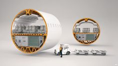 3D Cutaway, Technical Illustration of an Airplane