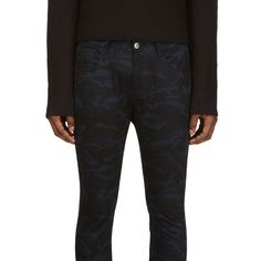 Raf Simons X Sterling Ruby, Twill Camouflage Jeans (Blue/Black)