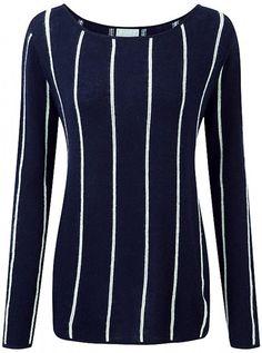 Cashmere Stripe Jumper, £129, Pure Collection