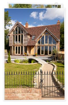 House ideas for Ardmay Oak Framed Buildings, Timber Buildings, House Front, My House, Bungalow Conversion, Oak Frame House, Timber Frame Homes, House Extensions, Beautiful Buildings