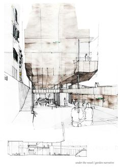 Architectural Render- hand drawn
