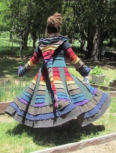 My new Earthen Rainbow Pixie Coat