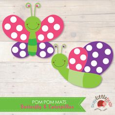 Butterfly Pom Pom Mats - great for fine motor control