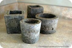 Making Hypertufa Pots - 1:1:1 concrete(not quick set), peat moss & perlite....when cured, plant with succulents