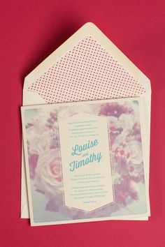 Letterpressed wedding invites by Hungry Workshop #HungryWorkshop #Letterpress