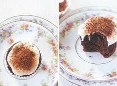 Chocolate Cupcakes with Cashew Coconut Cream. No butter, No sugar