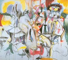 Arshile Gorky,  How My Mothers Emroiled Apron Unfolds Fine Art Reproduction Oil Painting