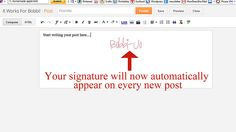 How To Add A Signature To Your Blog Posts (Blogger)